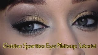 ♡ Golden Sparkles Eye Makeup Tutorial ♡ Thumbnail