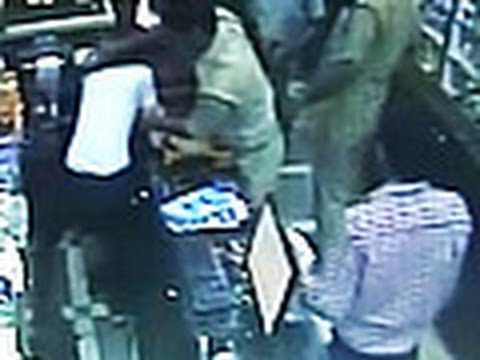 Caught on camera: rogue police guards beat up Delhi chemist