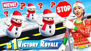 STOP & GO SNOWMAN Challenge *NEW* GAME MODE in Fortnite Battle Royale thumbnail