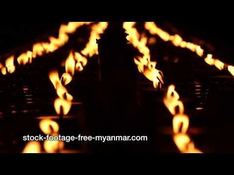 myanmar stock footage full hd video shwedagon pagoda prayer candles extreme close up