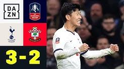 Son entscheidet Pokal-Krimi! Mourinho dennoch bedient: Tottenham - Southampton 3:2   FA Cup   DAZN