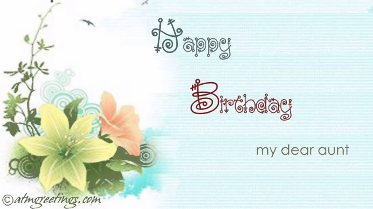 Happy Birthday Aunty Aunt Ecard Greetings Card Video 02