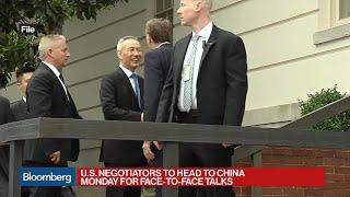 U.S. Negotiators to Head to China Monday for Trade Talks