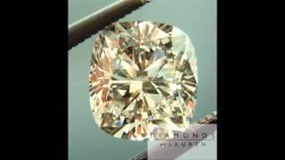 Medium Blue Fluorescence makes an L color diamond look bright white