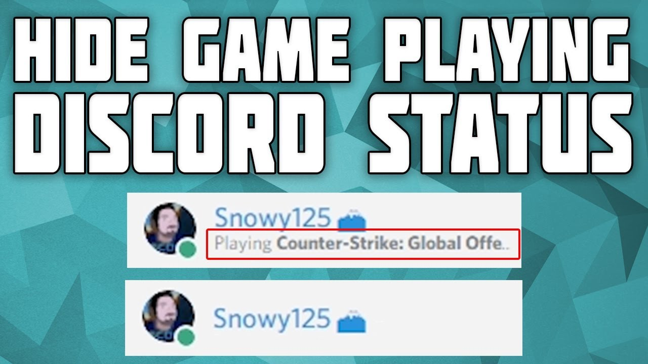 How To Hide What Game You're Playing On Discord!