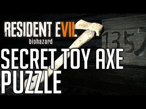 Resident Evil 7 SECRET PUZZLE LOCATION AND SOLUTION (TOY AXE PUZZLE)