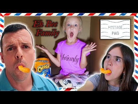 I Mailed Myself in a Box to Eh Bee Family! It Worked!! What's Inside Challenge?