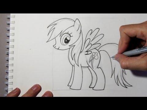 Cómo dibujar a Rainbow Dash de My little pony - Mi Pequeño Pony ...