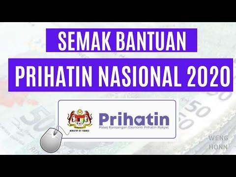 Langkah Semak Status Permohonan Bantuan Prihatin Nasional Malaysia 2020