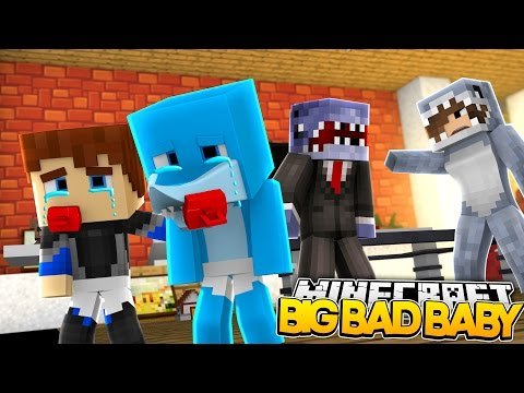 Minecraft BIG BAD BABY - SHARKY'S MOM AND DAD ARE GETTING DIVORCED??