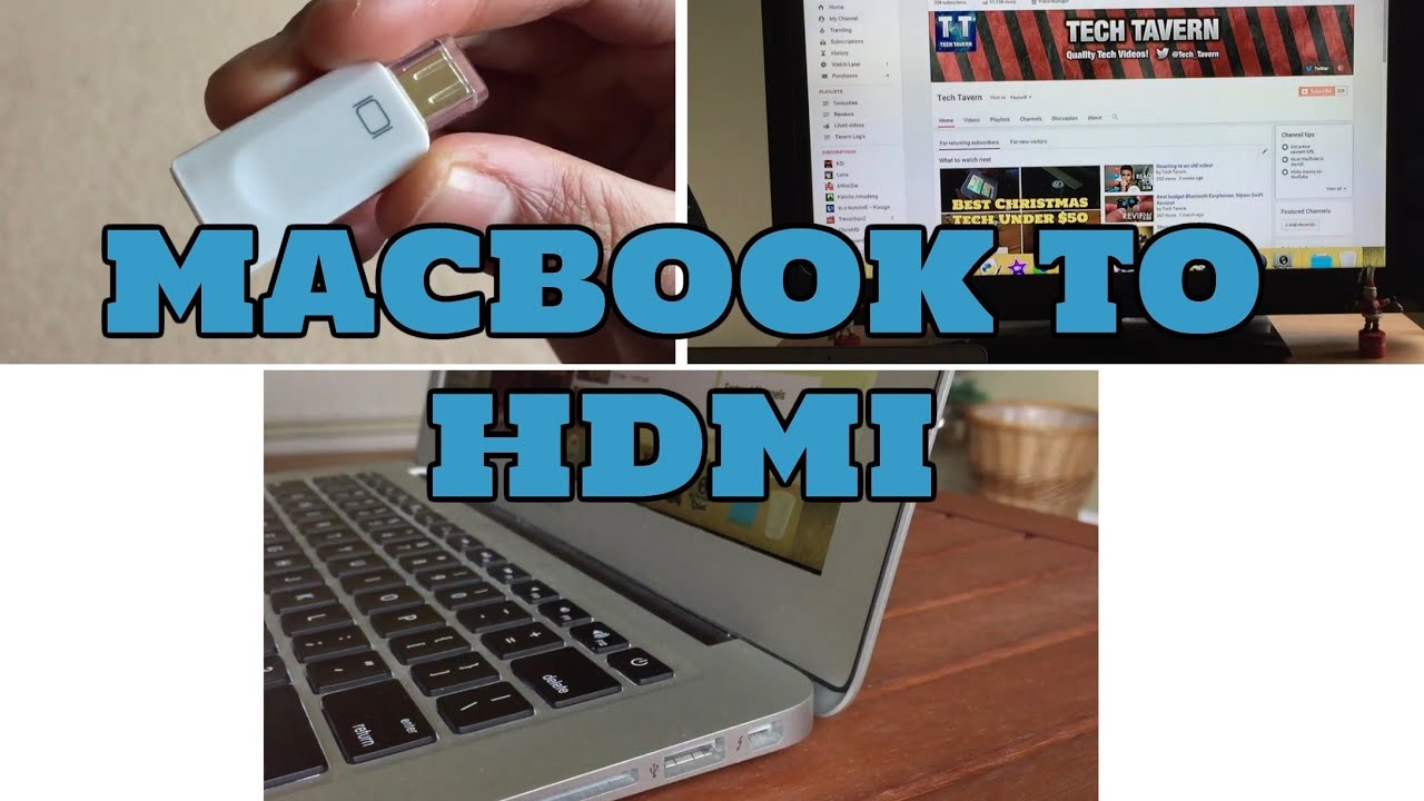 how to connect macbook air to tv monitor with hdmi cable [ 1280 x 720 Pixel ]