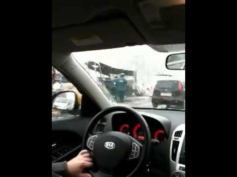 Автобус сгорел в аварии на Горьковском шоссе.