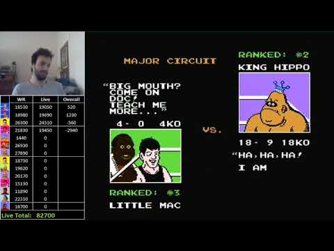 Mike Tyson's Punch-Out!! - King Hippo High Score - 1550 (WR)