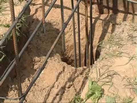 видео: Как залить столбчатый фундамент