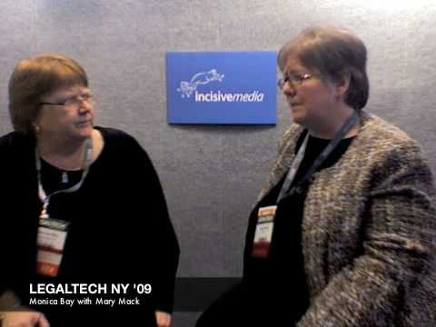Incisive Media Booth at LegalTech NY 09 - Mary Mack