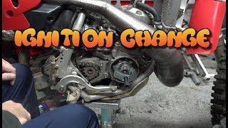 1997 Maico 500 Ignition Change  (Dirtbike Garage: S2 E17)