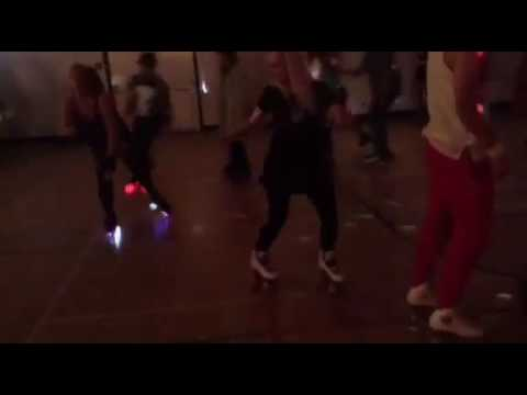 Roller skate dancing at The Galactic Roller Disco, Victoria BC