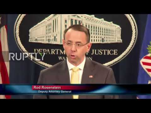 USA: 'Russian meddling' not alleged to alter 2016 election outcome - Rod Rosenstein