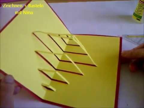 Kirigami PopUp Karte Sehr einfach Bastelidee fr