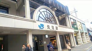 《乗り換え》元町駅、阪神本線からJR神戸線へ。 Motomachi