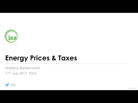IEA Webinar : Energy Prices & Taxes
