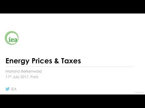 IEA Webinar : Energy Prices & Taxes