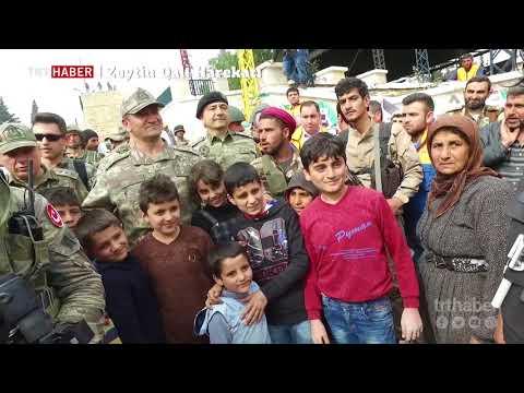 2. Ordu Komutanı Korgeneral İsmail Metin Temel Afrin'de sivillerle bir araya geldi