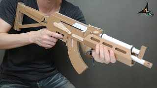 How To Make AK-74 That Shoots Bullets (Cardboard Gun) DIY