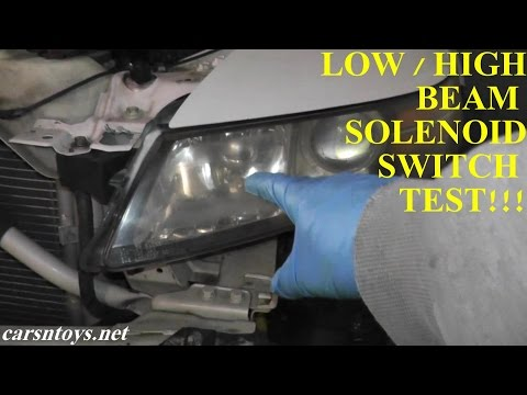 Acura TL Low and High Beam Switch Testing