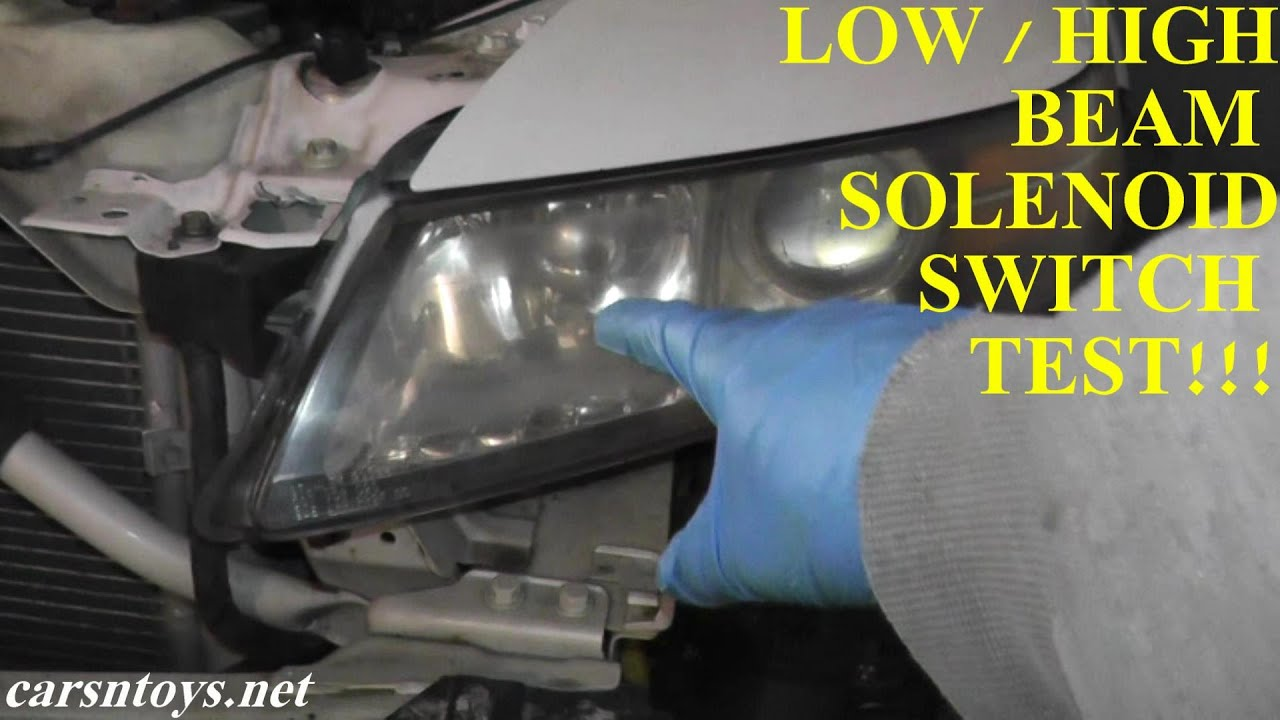 Acura TL Low and High Beam Switch Testing  YouTube