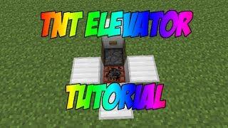 Minecraft Tutorial - TNT Elevator (Compact & Underground)