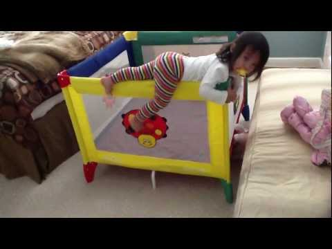Toddler Escapes Graco Playard Playpen
