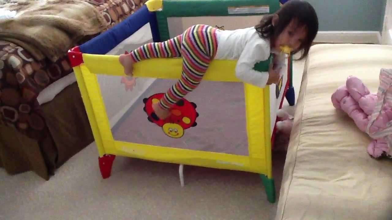 toddler escapes graco playard playpen  youtube -