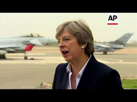 UK PM May visits service personnel at Akrotiri base