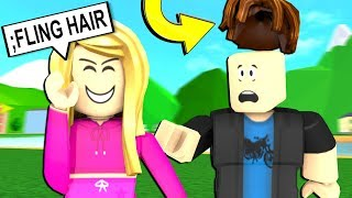 *NEW* FLINGING PEOPLE HAIR!!! WITH ADMIN COMMANDS!!! (ROBLOX ADMIN COMMANDS PRANKS)