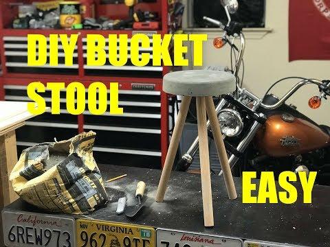 DIY Concrete Bucket Stool