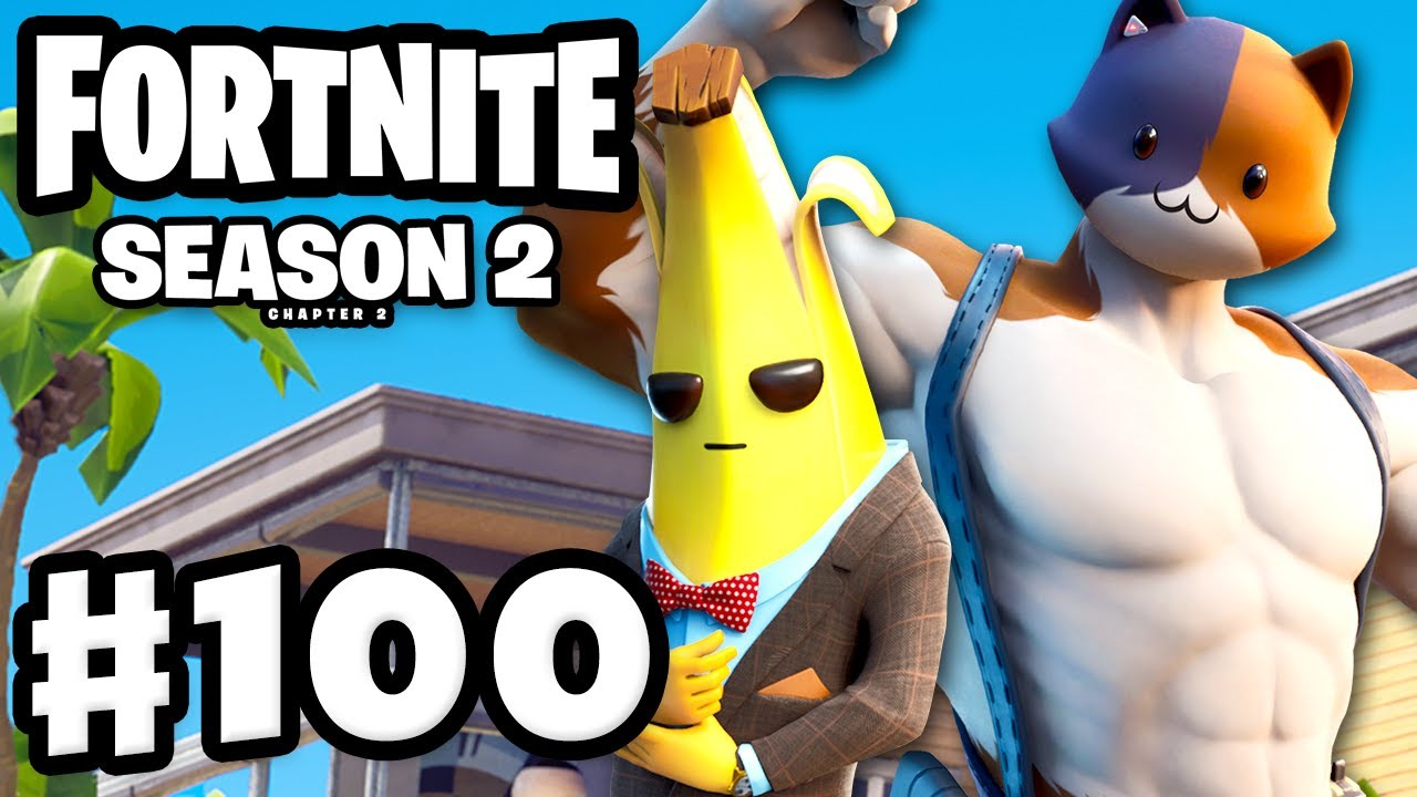 Fortnite Season 2 Chapter 2 Is Here Meowsles Agent Peely Fortnite Gameplay Part 100 Youtube