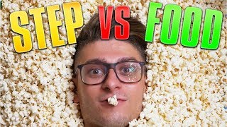 STEP VS FOOD - 50 PORZIONI DI POP CORN!! w/MATES