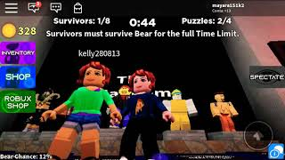Play Ber Bear) playing Roblox)