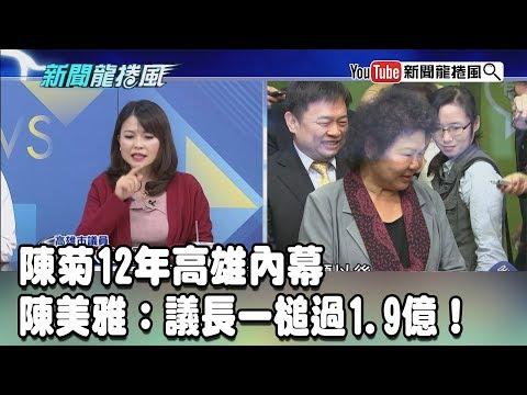 【精彩】陳菊12年高雄內幕 陳美雅:議長一槌過1.9億!