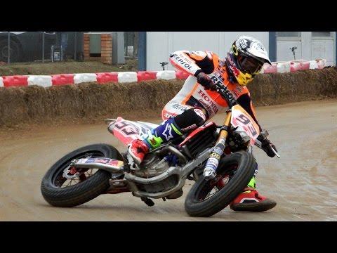 Marc Marquez & Brad Baker | Superprestigio Dirt Track 2016 Training Day Rufea by Jaume Soler