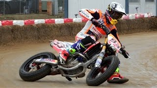 Marc Marquez & Brad Baker | Superprestigio Dirt Track 2016 Training Day Rufea by Jaume Soler