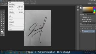 Photoshop Tutorial: How to extract signature in less than 2 minutes in Photoshop