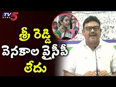 YSRCP Leader Ambati Rambabu Comments On Sri Reddy   TV5 News