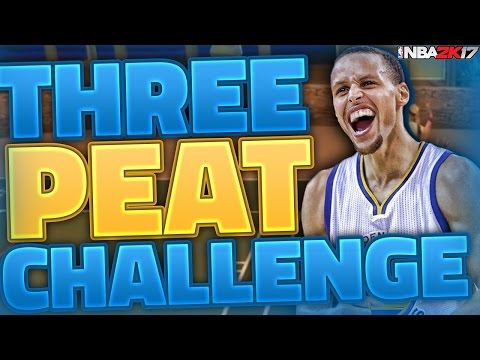 GREATEST TEAM EVER BUILT??? 3 PEAT CHALLENGE!! NBA 2K17 MY LEAGUE!!
