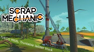 Scrap Mechanic Turntable Ladder Truck IVECO M68L with pistons update!