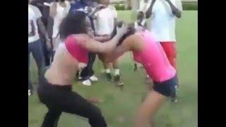 Girls full naked fight in the park