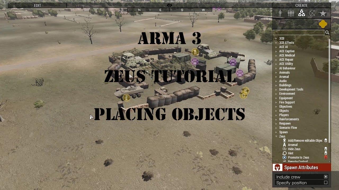 Arma3 - Zeus Tutorial - Placing Objects