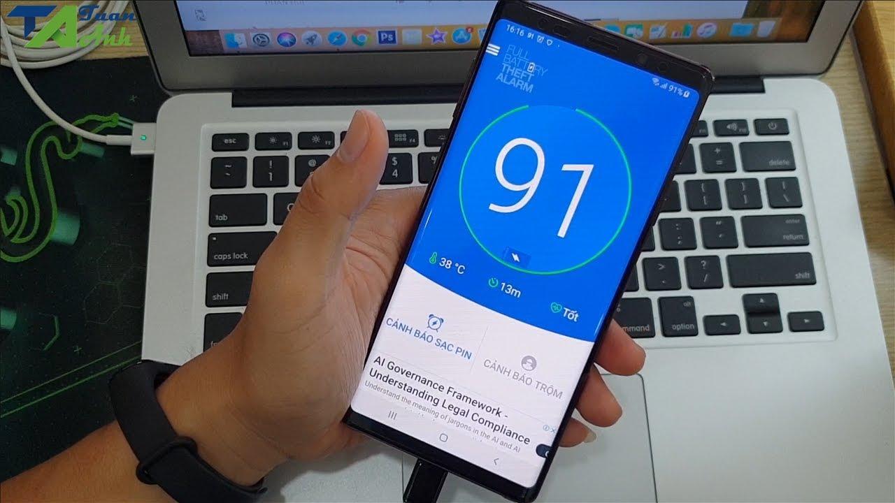 Báo sạc Pin đầy bằng âm thanh dành cho điện thoại Android