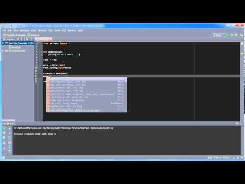 Python GUI with Tkinter - 9 - Creating Drop Down Menus - YouTube